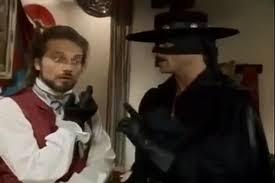 Duncan Regehr and Michael Tylo in Zorro (1990) | Zorro, Michael, Live action