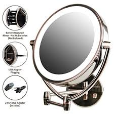 ovente wall mount mirror battery or