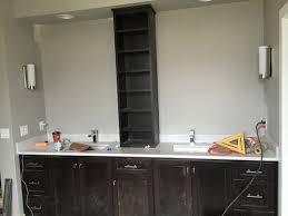 mirrors off centre from sink
