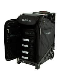 rolling make up artist bag with seat