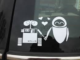 Wall E Stick Family Cute Car Decals Disney Car Decals Funny Family Stickers
