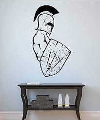 Amazon Com Gladiator Wall Sticker Warrior Vinyl Decal Home Decorations Spartan Wall Art Decor 1gr Kitchen Dining