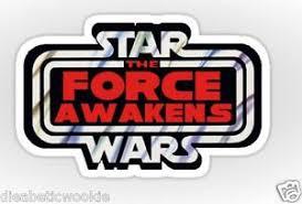 Star Wars Vintage Logo The Force Awakens Lightsaber Sticker Decal Car Laptop Ebay