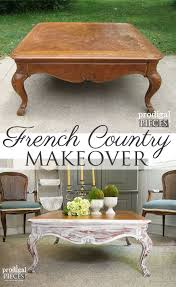 coffee table gets french country