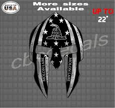 Molon Labe Dont Tread On Me Spartan Helmet Vinyl Decal Sticker Country Boy Customs Store