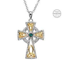 trinity gold plated celtic cross