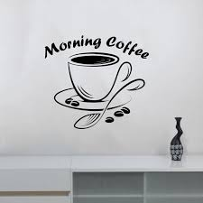 quotes morning coffee wall decal vinyl restaurant coffee bar house