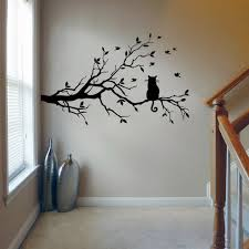 Tree Branch Bird Wall Decal Sticker Kids Bedroom Stickers Home Decor Lj