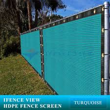 Ifenceview 3x3 To 3x50 Turquoise Green Shade Cloth Fence Privacy Screen Fabric Mesh Net For Construction Site Yard Driveway Garden Canopy Awning 160 Gsm Uv Protection 3x50
