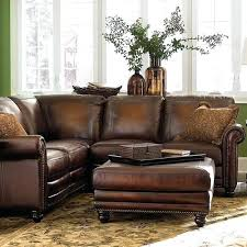 weathered leather couch rustic