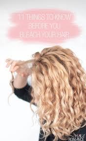 you bleach your hair