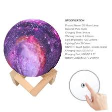 Shop Kid Universe Galaxy Toy Outer Space Bedroom 3d Globe Touch Lamp Remote 4 In Overstock 28279831