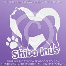Love Shiba Inu Vinyl Decal Sew Dog Crazy