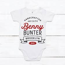 personalised crafted cute onesie