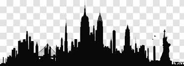 New York City Skyline Silhouette Wall Decal Phonograph Record Building Transparent Png