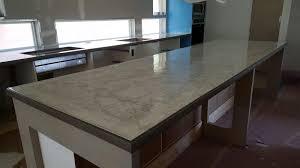 grey concrete with white microfinish