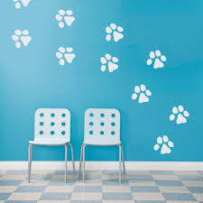 dog paw print wall decals paw print