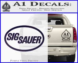 Sig Sauer Decal Sticker Oval A1 Decals