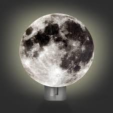Moon Led Night Light Lunar Kids Bedroom Soothing Children Plug In Hallway Stairs Walmart Com Walmart Com