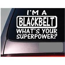 I M A Blackbelt Sticker Decal E149 Karate Mma Kickboxing Judo Belt Walmart Com