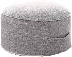 Amazon Com Small Pouf For Kids Foot Stools Ottomans Foot Rest Pouffe For Sitting Ottoman Pouf For Living Room Small Space Lightweight Handle Design For Easy Removal 14 X14 X7 Furniture Decor