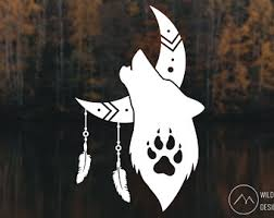 Wolf Moon Decal Etsy