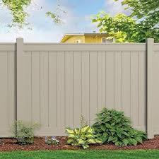 Freedom Emblem 6 Ft H X 8 Ft W Khaki Vinyl Flat Top Fence Panel Lowes Com Vinyl Fence Panels Vinyl Fence Fence Panels