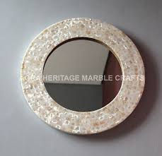 12 white mother of pearl round wooden