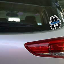 Mega Discount Ea69 Yjzt 11 2 13 1cm Police K9 Paw Decal Retro Reflective Decals Car Window Sticker C1 4675 Cicig Co