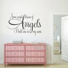 Angels Quotes Wall Decal Kids Room Quote Wall Sticker Vinyl Wall Stickers Living Room House Decor Q244 Stickers For Kids Walls Stickers For Room Walls From Kathyatiwall 13 18 Dhgate Com