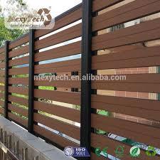 Cheap Popular Outdoor Wood Plastic Composite Garden Fence Panel Diy Exterior Garden Fence Panels Composite Decking