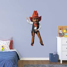 Oklahoma State Cowboys Pistol Pete Mascot Officially Licensed Removable Wall Decal