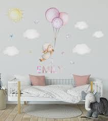 Sheep Wall Decal Sheep Nursery Decor Lamb Nursery Wall Decal Balloon Nursery Sticker Nursery Balloon Wall Decal Pink Nursery Wall Sticker In 2020 Elephant Nursery Wall Baby Room Wall Stickers Baby