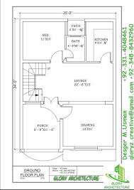 25x30 house plan elevation 3d view