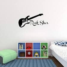 Amazon Com Empresal Guitar Rock Star Decal Wall Vinyl Decor Sticker Bedroom Music Kids Children Art Home Kitchen
