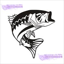 Bass Fishing Decal Boat Sticker Car Fish Angling Posters Vinyl Wall Decals Hunter Decor Fishing Hooks Tackle Shop Sticker Mural Sticker Fishing Stickersvinyl Wall Decals Aliexpress
