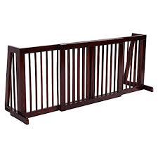 Giantex Folding Adjustable Free Standing 3 Panel Wood Pet Dog Slide Gate Safety Fence Safety Fence Wood Fence Dog Gate