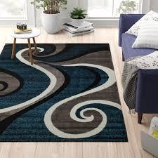 zipcode design rick navy blue area rug