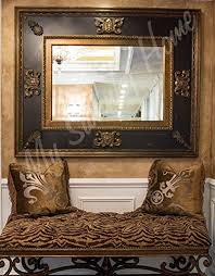 extra large ornate black gold wall