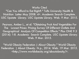link between costly healthy food and