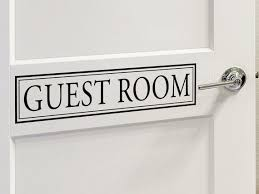 Guest Room Door Decal Door Sign Wall Decal Vinyl Decal Etsy