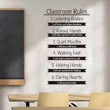 Classroom Rules Wall Decal Education Study Learning Inspirational Quote Vinyl Sticker Motivational School Interior Decorations Wall Stickers Aliexpress