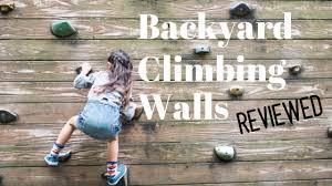 backyard climbing walls