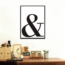 Ampersand Letter Symbol Painting On Canvas Black White Typography Wall Picture Art Poster Oil Home With Free Shipping Worldwide Weposters Com