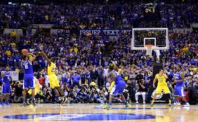 These two photos show Aaron Harrison's Final Four game-winner was ...
