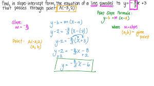 finding in slope intercept form