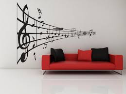 Music Line Of Notes Decal Vinyl Sticker Music Home Decor Treble Vinylwallaccents On Artfire
