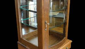 display case curved glass door