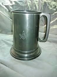 revere pewter 1 pint beer tankard mug