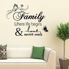 Free Shipping Quotes Home Decals Removabler Family Where Life Begins Vinyl Home Decorations Wall Stickers Be 7 Wall Sticker Decorative Wall Stickershome Decor Wall Sticker Aliexpress